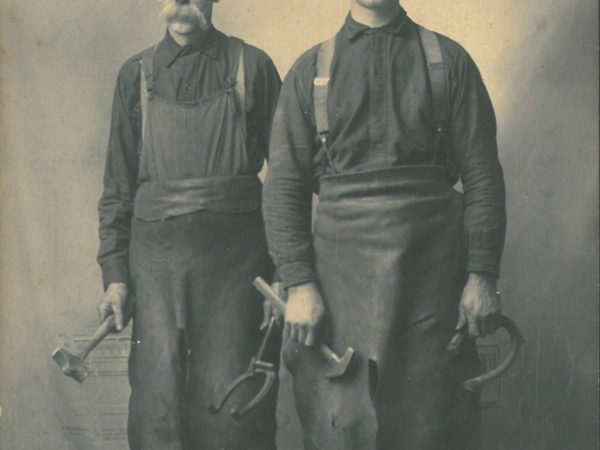 Two blacksmiths with their tools in Canton
