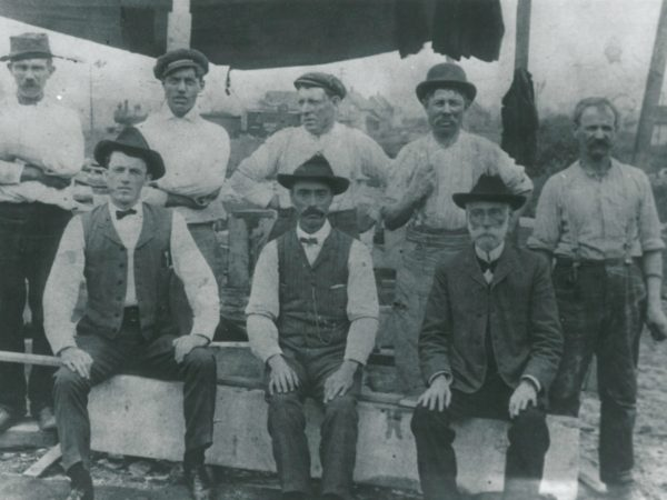 Quarry workers and management in Gouverneur