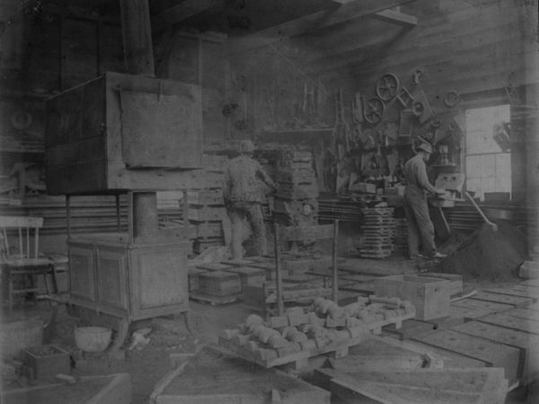 Blacksmiths in the Baxter Foundry in Canton