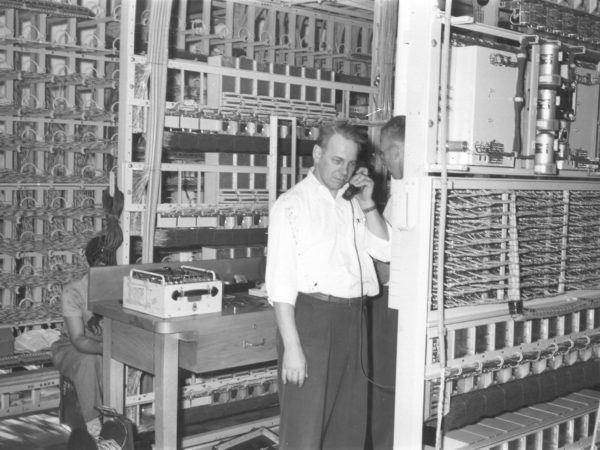 Inside the New York Telephone Station in Canton