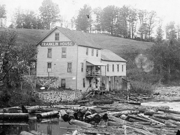 Franklin House Hotel on the bank of the Oswegatchie River in Fullerville