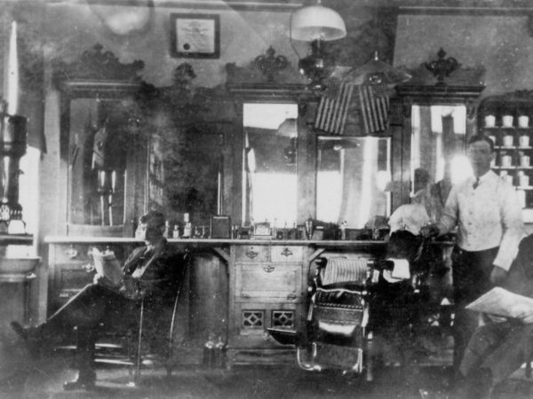 Inside a barbershop in Lawrenceville
