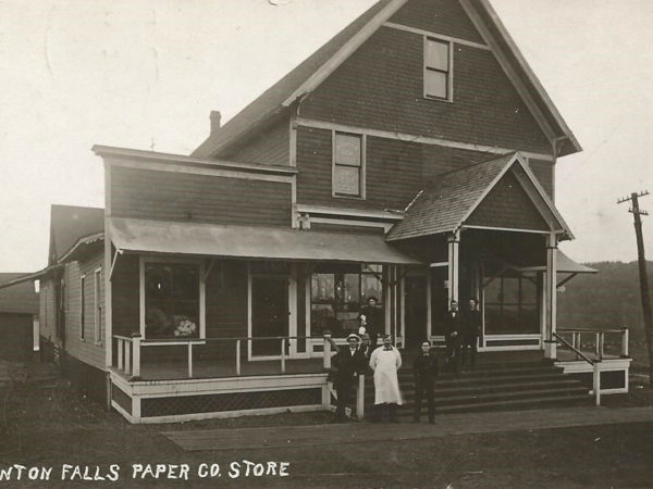 Front of the Newton Falls Paper Mill Company Store