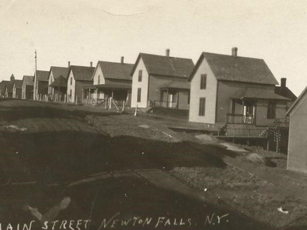 Company housing on Main Street in Newton Falls