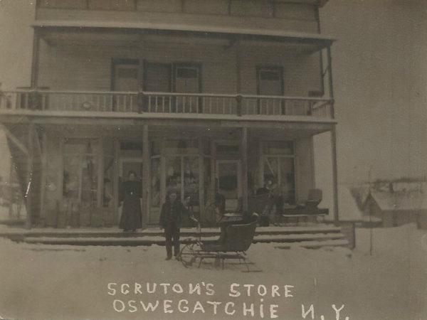 Scruton's Store in winter in Oswegatchie