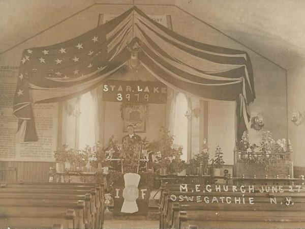 Interior of a Methodist Episcopal Church in Oswegatchie