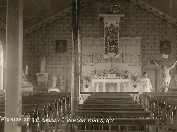 Interior of St. Hubert's Roman Catholic Church in Benson Mines