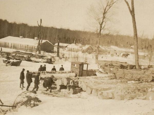 DeCosse's logging camp at Brandy Brook in Cranberry