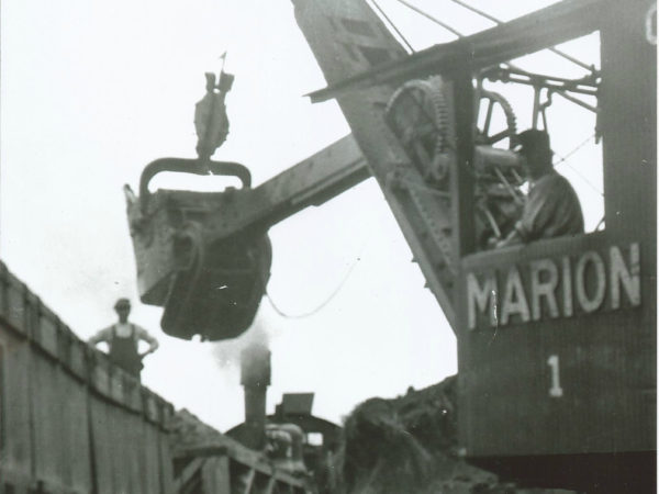 Emporium Forestry Company 'Marion' steam shovel in Cranberry Lake
