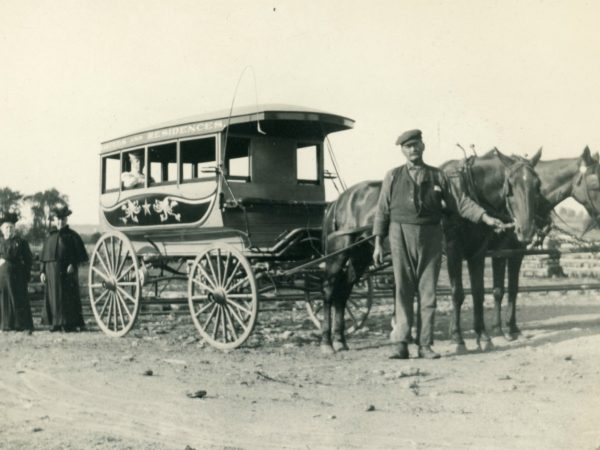 Stagecoach driver James Hotaling in Hermon