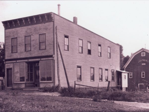 Office, laboratory and storehouse of the St. Lawrence Pyrites Company in Stellaville