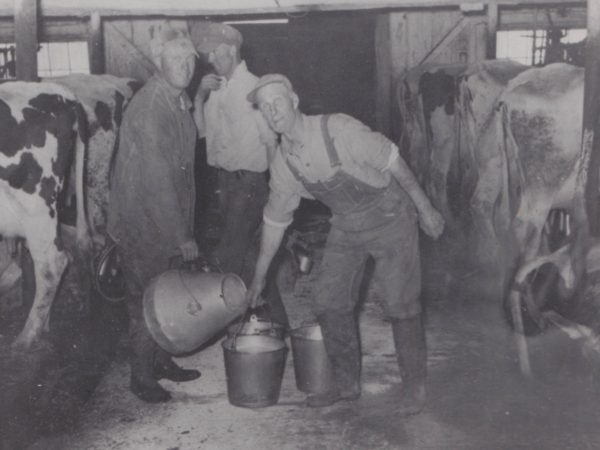 Inside the Thompson milk barn in Osbornville