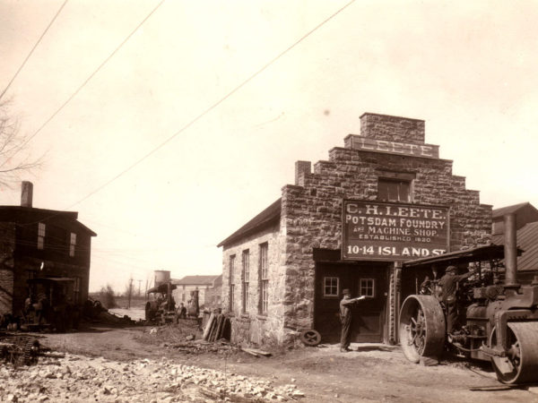 C. H. Leete Potsdam Foundry and Machine Shop on Fall Island in Potsdam