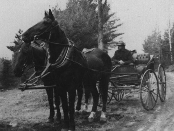 Mail carrier Harry Wilson delivering mail in Essex County