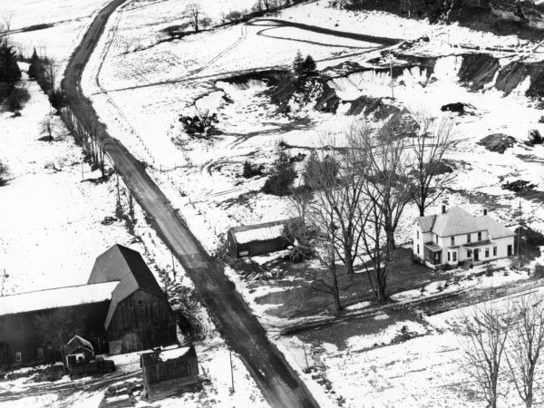 Aerial view of the McGregor farm and homestead in Hammond
