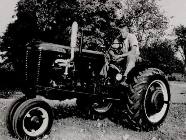 Malcolm McGregor on his new Case tractor in Hammond