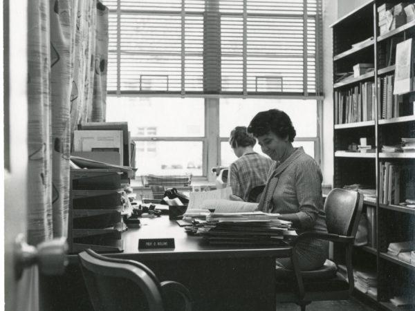 Clarkson librarian Ottilie Rollins in Potsdam