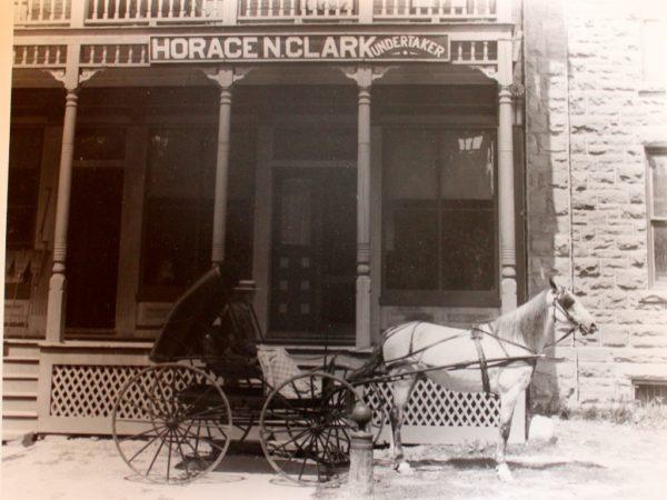 Undertaker Horace N. Clark in Potsdam