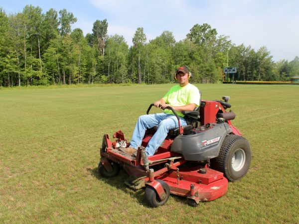 Senior Groundskeeper Kyle Henderson at Clarkson University