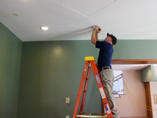 Electrician Nate Derushia Working at Clarkson University in Potsdam