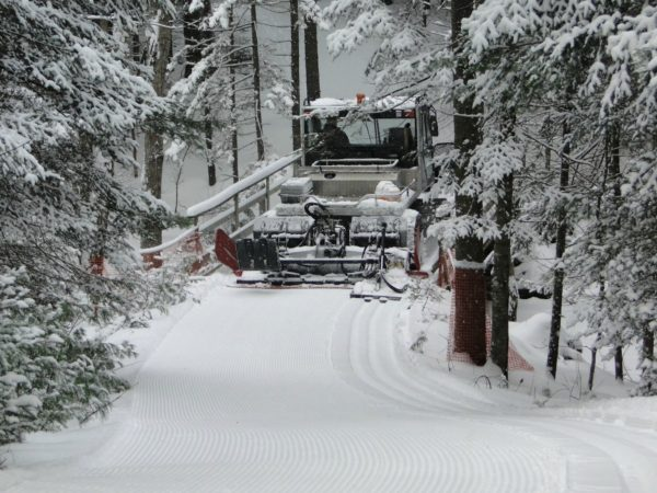Grooming trails at the Lapland Lake Nordic Vacation Center in Benson