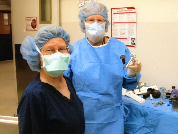 Two operating room nurses at Samaritan Medical Center in Watertown
