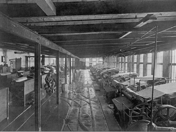 Machines in the St. Regis Paper Company mill in Deferiet