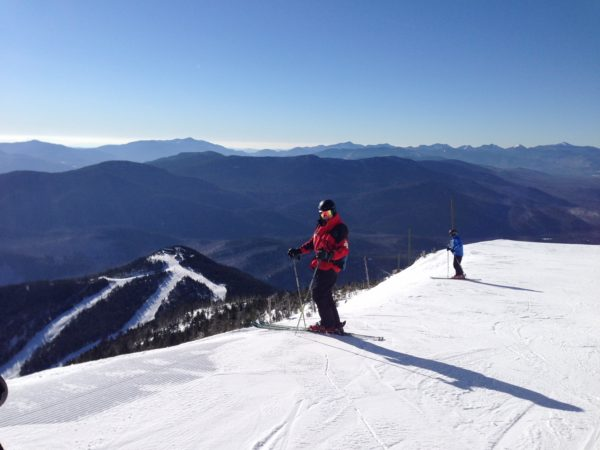 Ski patroller Rick Wood at the summit of Whiteface Mountain in Wilmington
