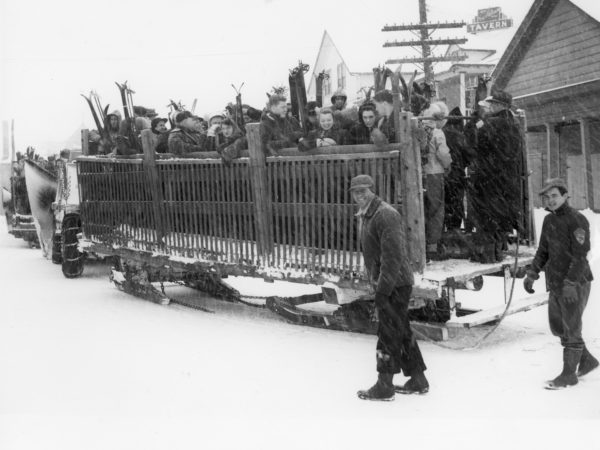 Transporting skiers to the slope in the Town of Webb