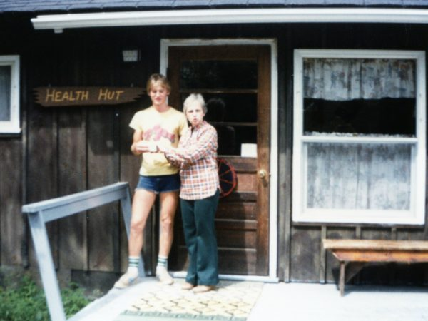 June McKenney with camper at Northern Frontier camp in North River