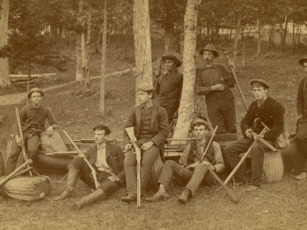 Adirondack guides with rifles in Long Lake