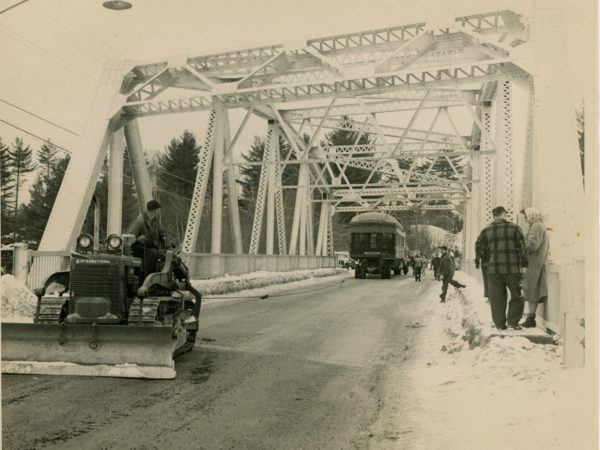 Moving the Adirondack Museum's railroad car in Long Lake
