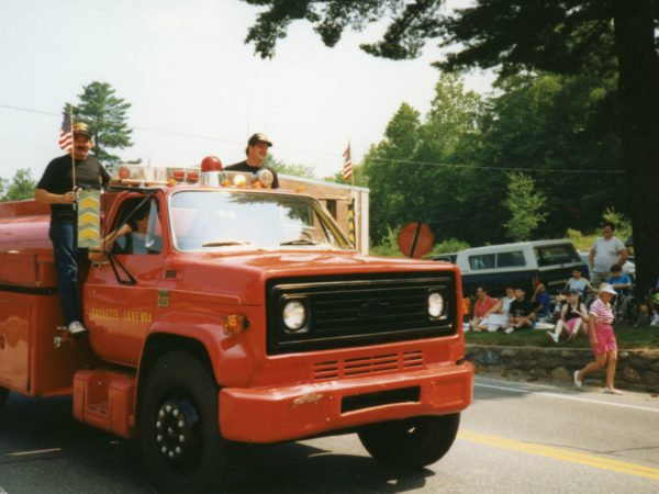 Raquette Lake Fire truck during a parade in Raquette Lake