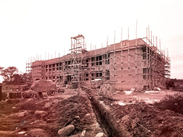 Mooers High School under construction in Clinton County