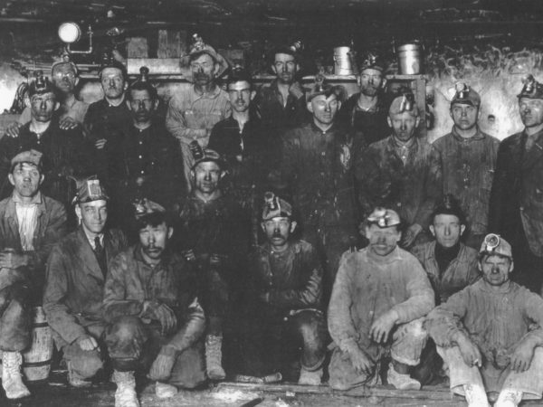 Portrait of Chateaugay Ore & Iron Company workers in Lyon Mountain