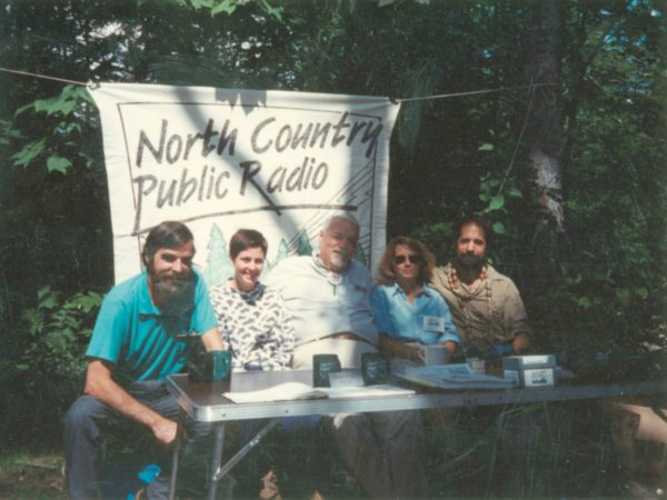 "Crew of NCPR's ""Field Notes"" program in the Adirondacks"