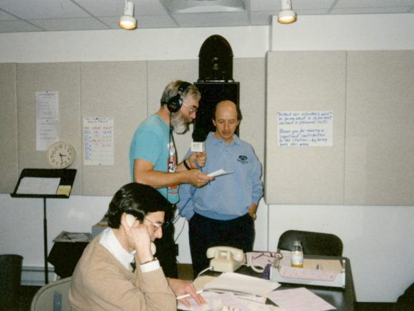 Bob Sauter and volunteers work on fundraising at NCPR in Canton
