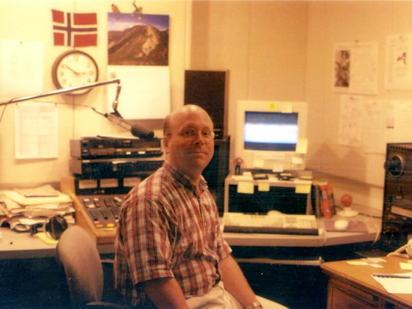 NCPR morning show host Todd Moe in his office in Canton