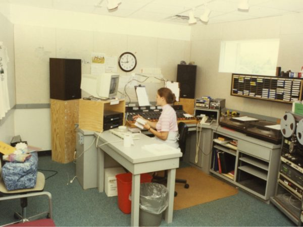 NCPR operations manager Shelly Pike in the control room in Canton