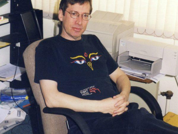 NCPR digital editor Dale Hobson in office in Canton