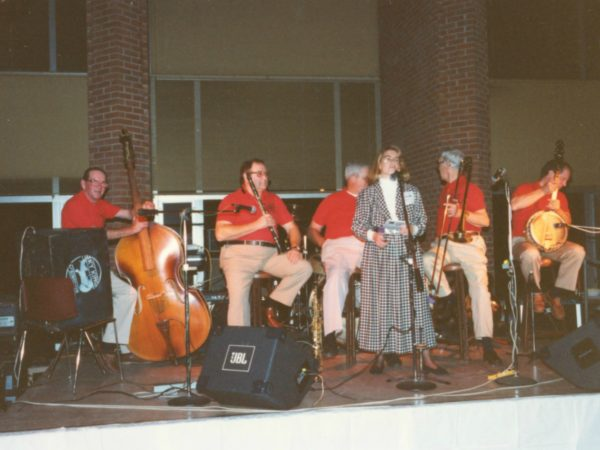 Martha Foley and the North Country Preservation band at fundraiser in Canton