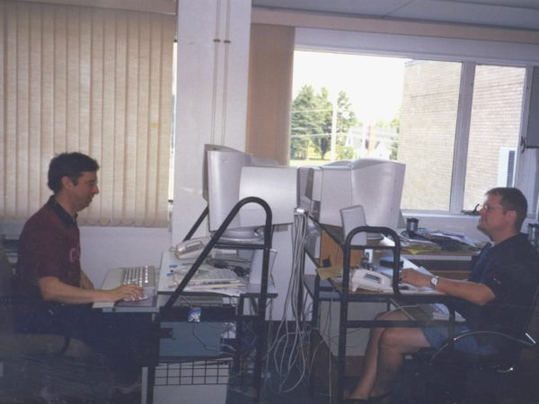NCPR's digital team at their computers in Canton