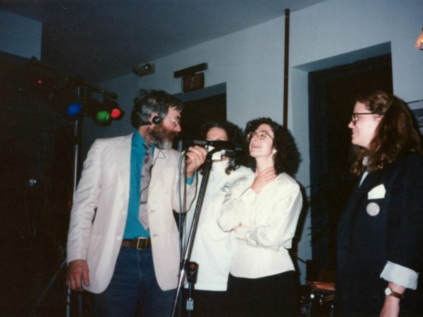 NCPR staff onstage at fundraiser in Potsdam