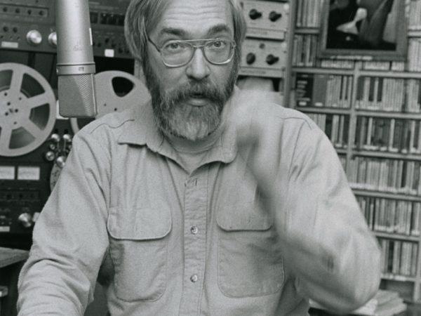NCPR engineer Bob Sauter in the studio in Canton