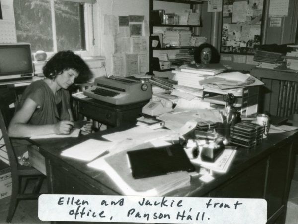 Ellen Rocco and Jackie Sauter work in NCPR offices in Canton