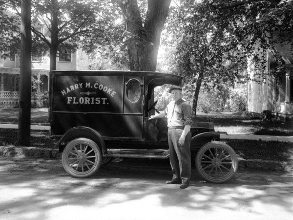 Florist, with truck in Plattsburgh