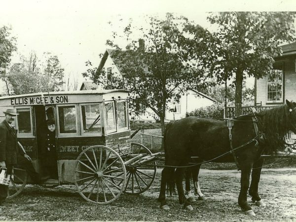 Ellis McGee & Son milk wagon in Norfolk