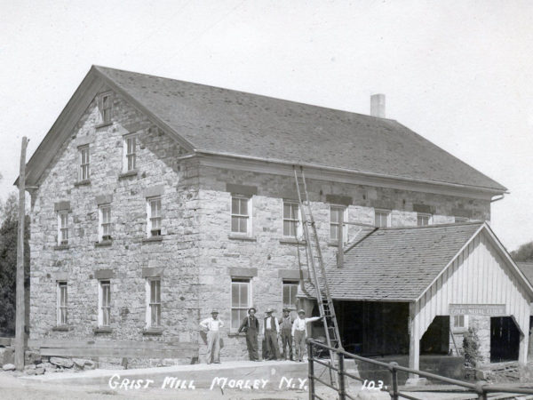 Employees outside the Morley Grist Mill