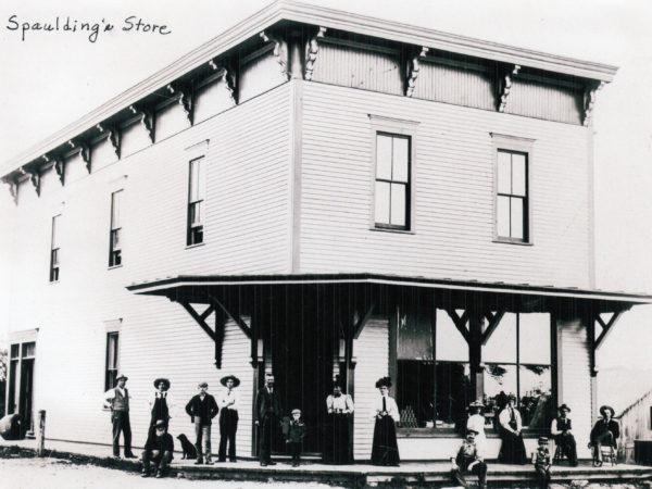 Exterior of Spaulding's Store in Morley