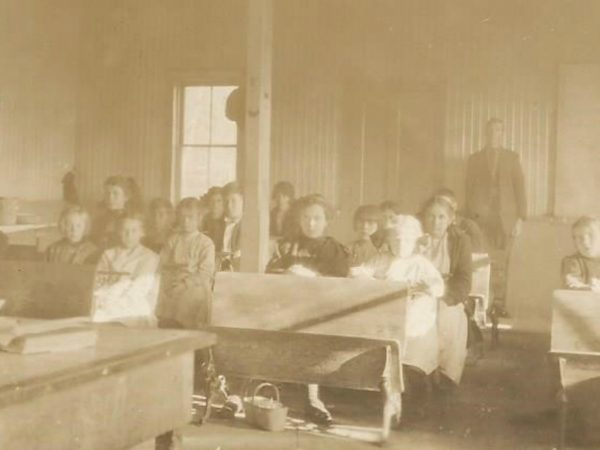Classroom at the school in Newbridge